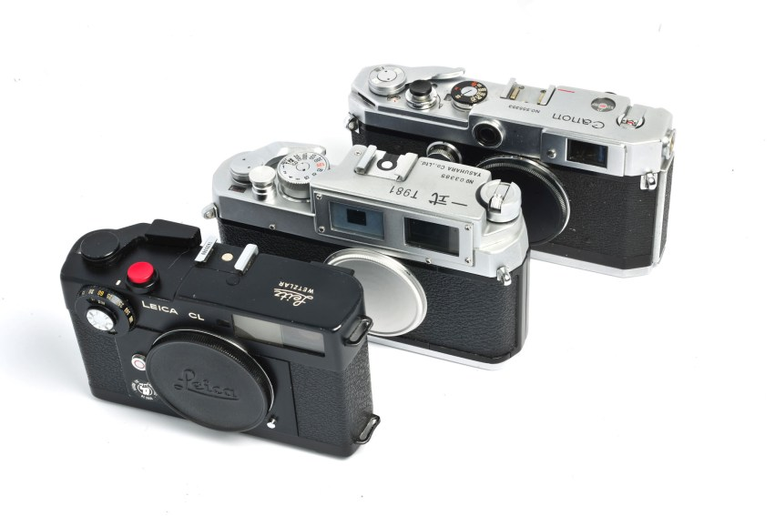 3 Cameras - Leica CL, Yasuhara 一式 T981 (Isshiki T981), Canon P
