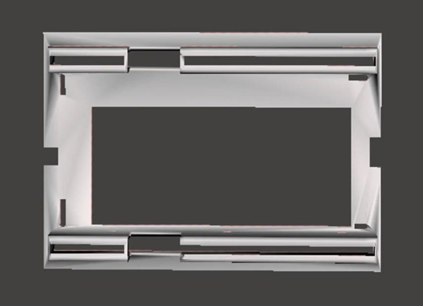 Birds-eye view of the pressure plate design (Meshmixer)