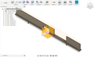 Design of the internal pressure plate bars (Fusion 360)