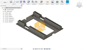 Design of the internal pressure plate that allows both formats to be utilized (Fusion 360)