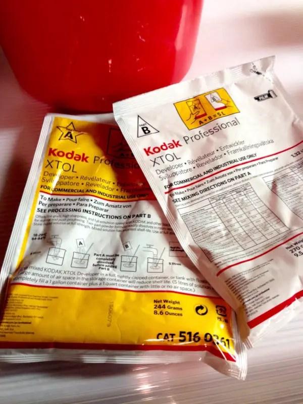 Kodak XTOL developer