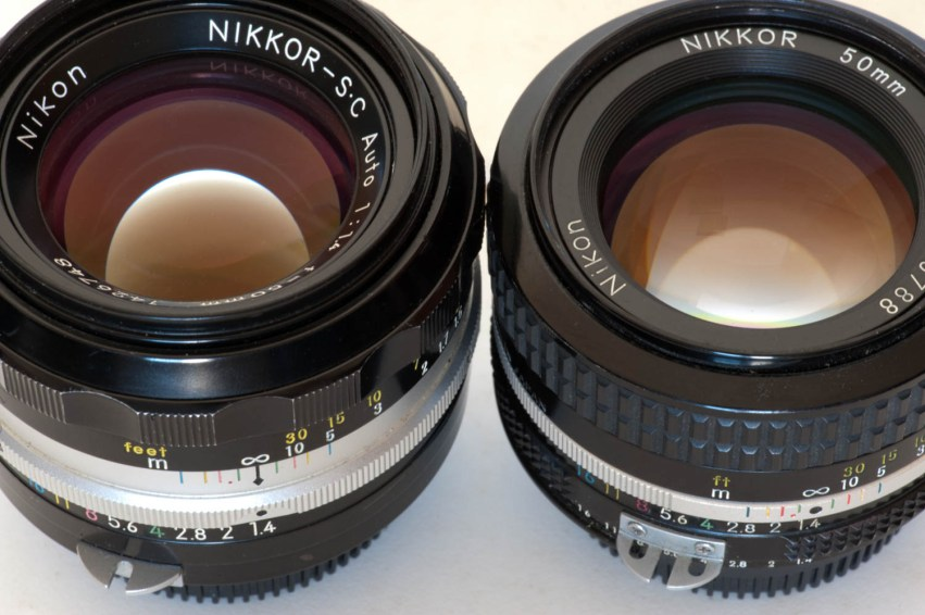 Nikkor-SC Auto 50mm f/1.4 and Nikkor 50mm f/1.4 AI