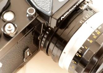 Nikkormat FT2 film speed selector