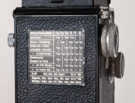 Back plate featuring an exposure table