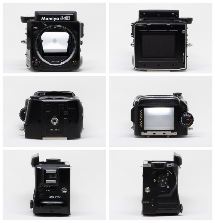 All-around views of the Mamiya 645 Pro body