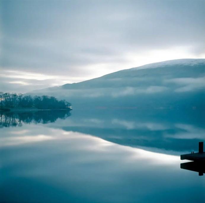 Loch Lomond; For a one-minute exposure on film, Kodak Ektar 100 retains its sensitivity, contrast and colour well.