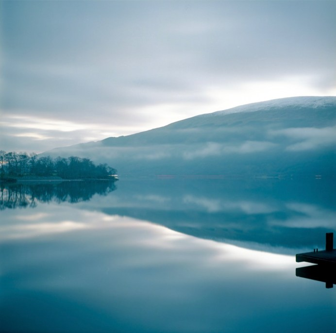 Loch Lomond; For a one-minute exposure on film, Kodak Ektar 100 retains its sensitivity, contrast and colour well.