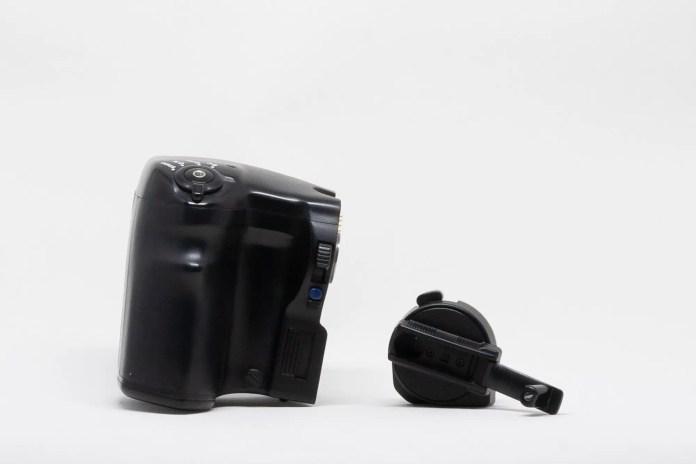 Mamiya 645 Power Drive Grip WG401 and Film Advance Crank AC401
