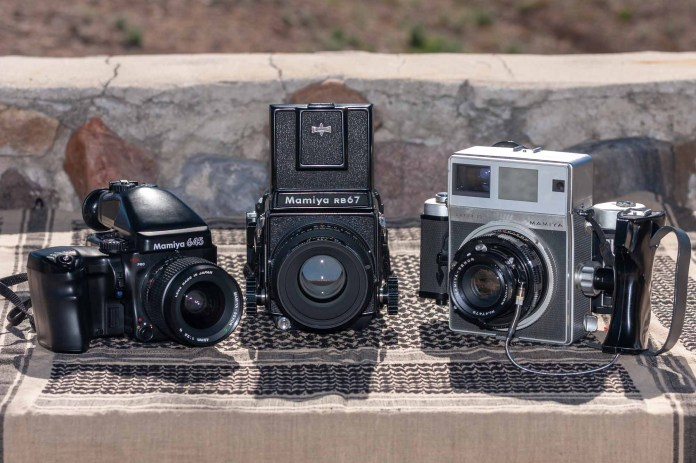 Mamiya 645 Pro, RB67, and Super 23 size comparison