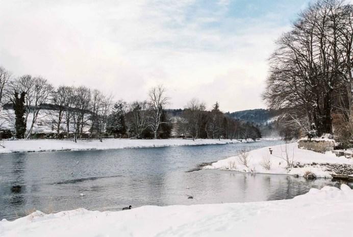 Snow in Haylodge - Haylodge Park Peebles - Nikon F100, Kodak Portra 400
