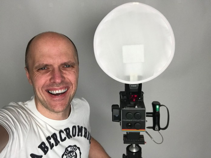 Me with my passport wet plate camera