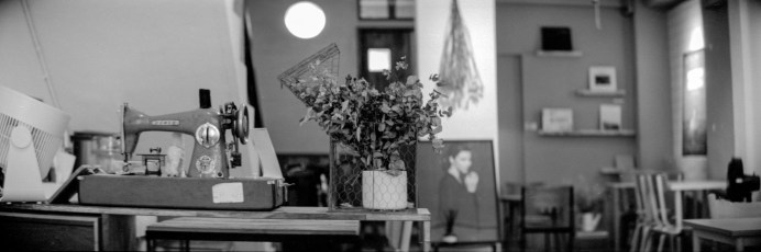 Office space - Shot on Fuji NEOPAN 100 ACROS at EI 400. Black and white negative film in 35mm format. Push processed 2 stops.