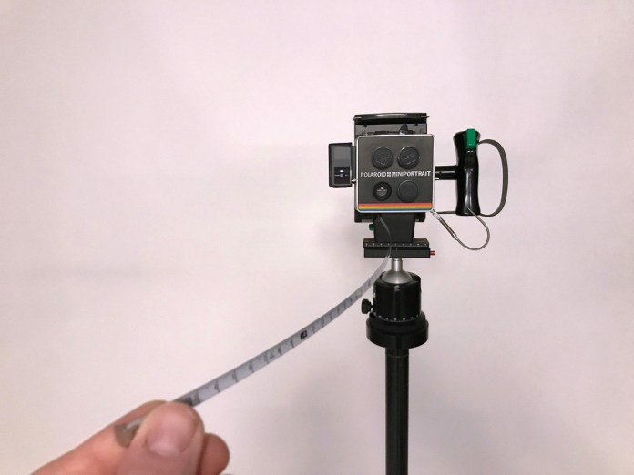 Polaroid Miniportrait - integrated tape measure!