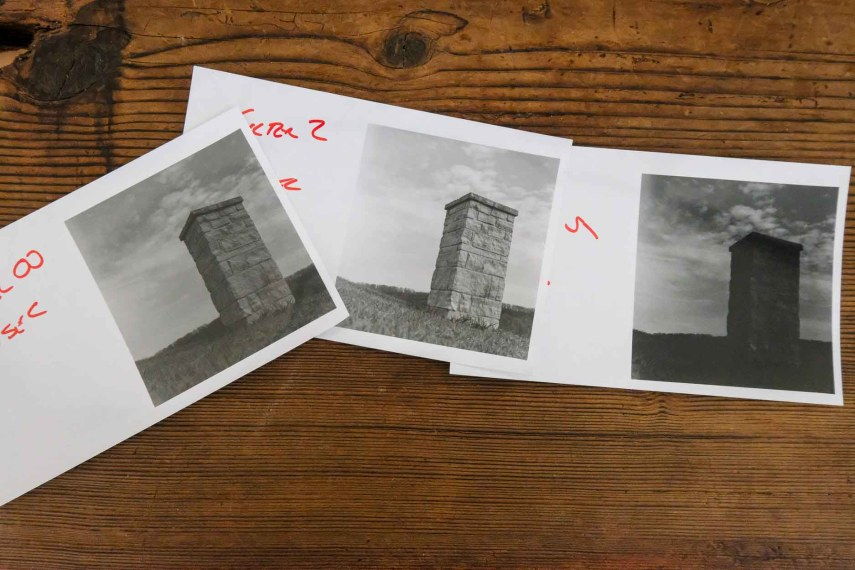 Budget darkroom - Contrast testing opps