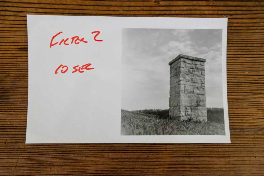 Budget darkroom - Contrast testing