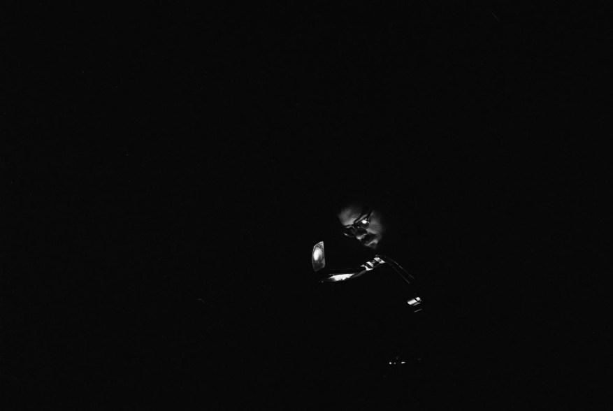 Erik Ruin at the Rotunda, Nikon F2AS, 35mm f/1.4 AI, Tri-X 400