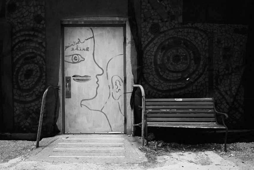 The Painted Bride, Nikon F2AS, 35mm f/1.4 AI, Eastman Double-X