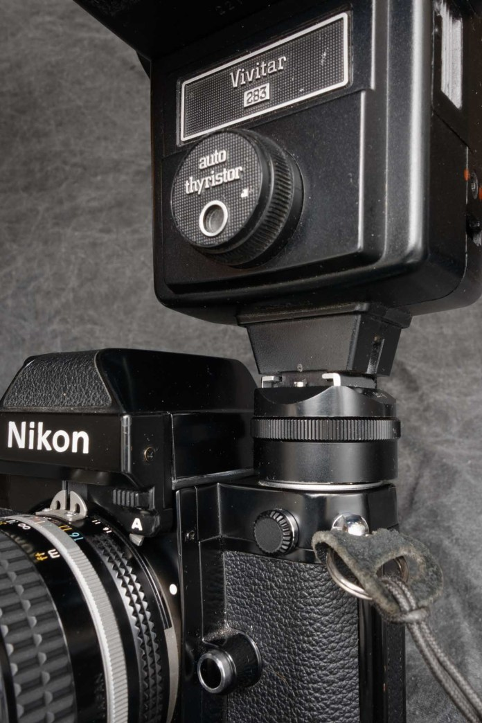 Nikon F2 flash shoe