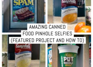 Cover: Amazing canned food pinhole selfies (featured project and how to)