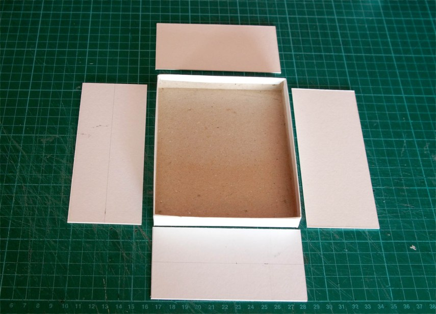4x5 Pinhole build - Box sides laid out
