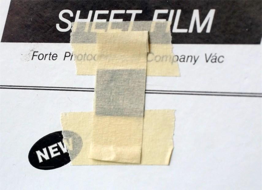 4x5 Pinhole build - Shutter taped closed