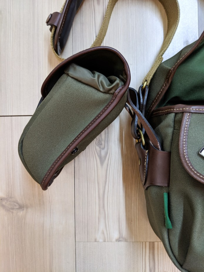 Attaching the AVEA 7 end pocket to the Billingham Hadley Small Pro