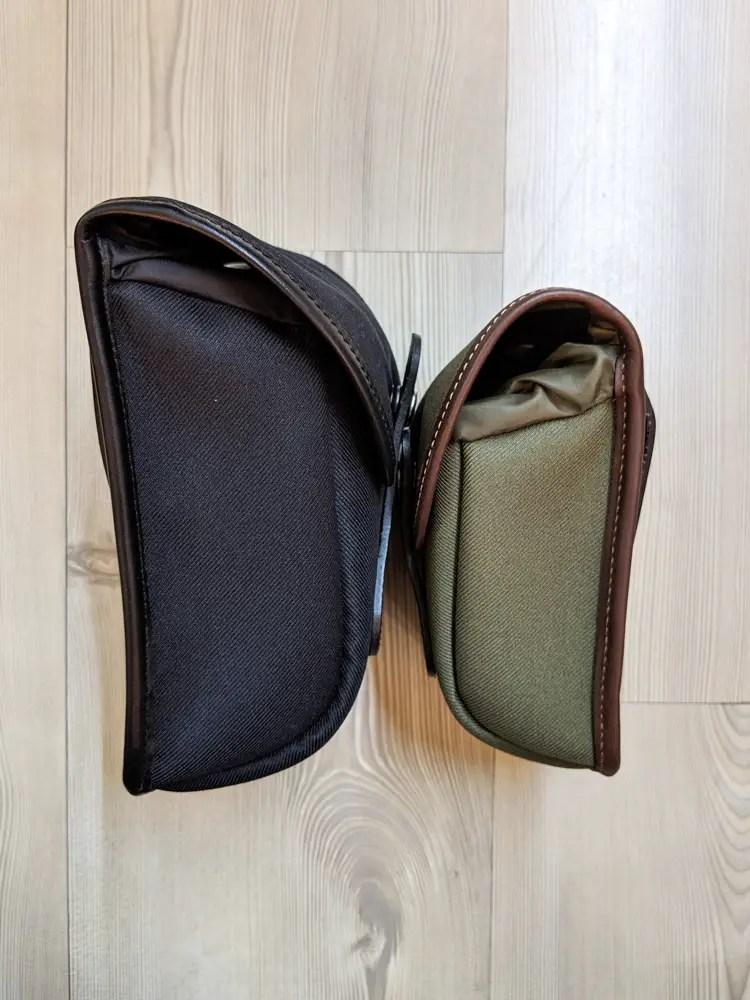 Billingham AVEA 7 and 8 end pockets side comparison (face-to-face)