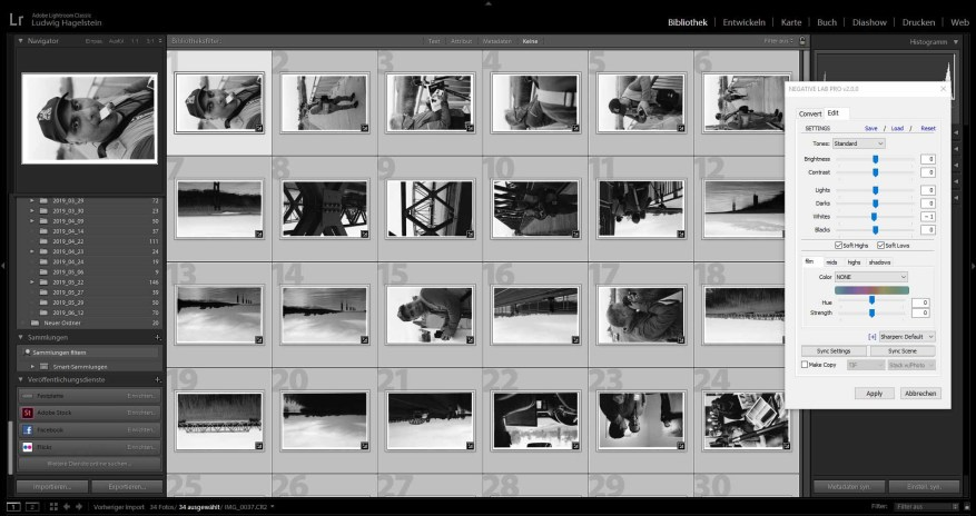 ILFORD HP5 PLUS EI 1600, NLP directly after batch conversion, no changes made at all