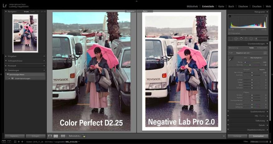 Side-by-side, Kodak Ektar 100 - ColorPerfect vs Negative Lab Pro