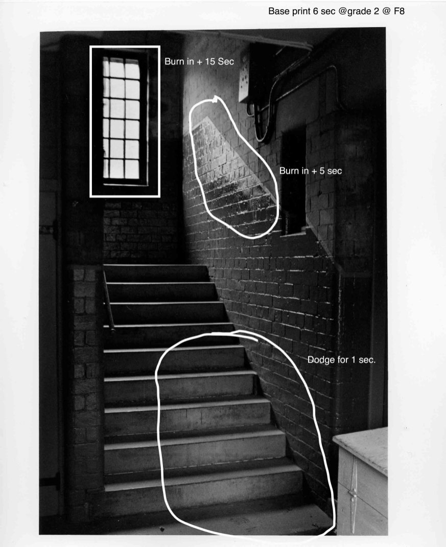 Staircase in dean village - annotated