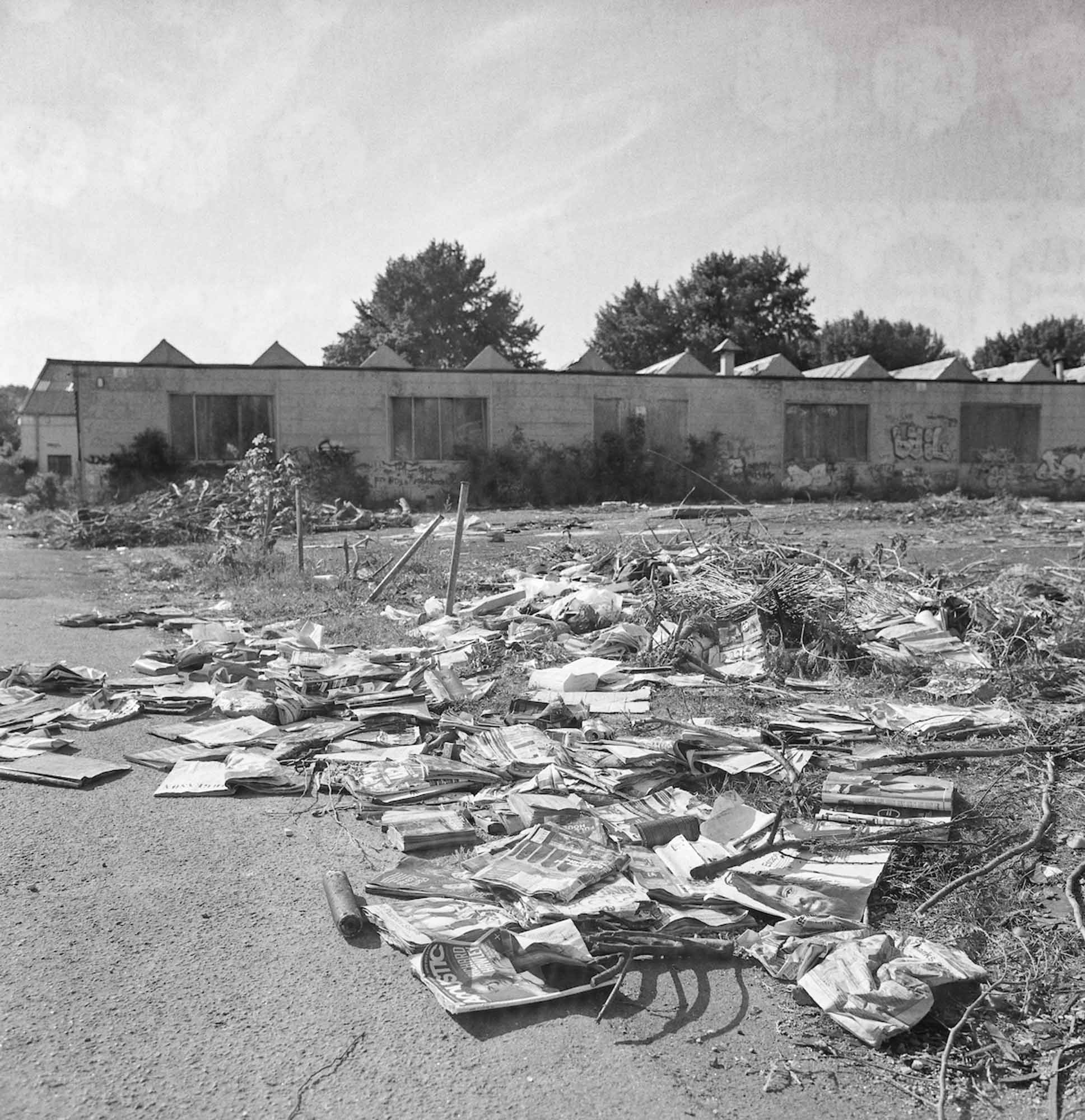 Books and magazines, a favourite of the fly-tippers. May 2017, ILFORD FP4 PLUS