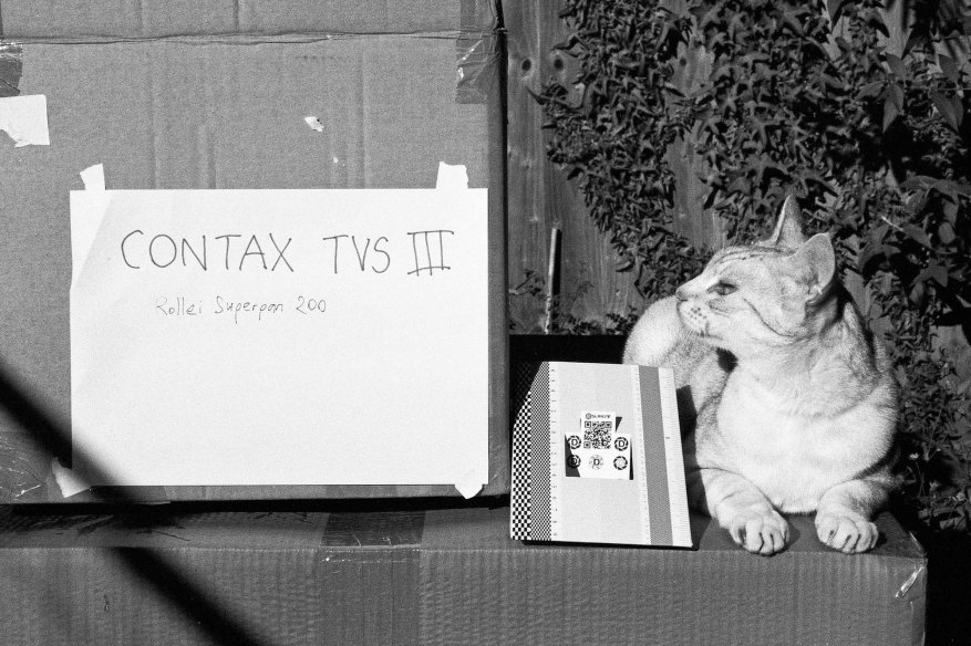Contax TVS III - Test shot