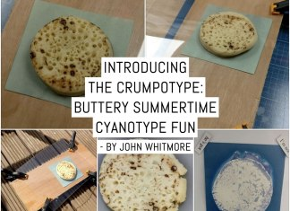 Introducing the Crumpotype - buttery Summertime cyanotype fun