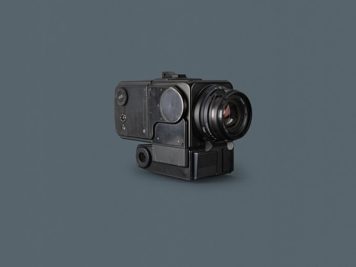 Hasselblad HEC (Hasselblad Electric Camera) - black for photography inside the LM, used on Apollo 8, 9, 10, 11 flights. Credit: Hasselblad