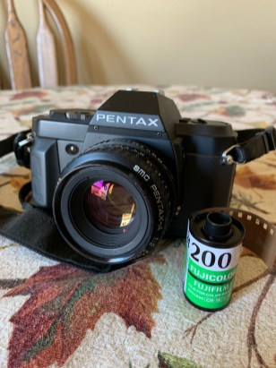 Matt is shooting a Pentax P3n and Fujicolor 200. He is using an experimental bleach bypass process