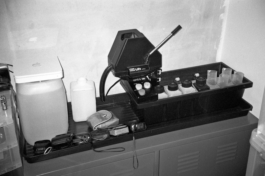 Yashica Zoomate 115 - I think I photographed my film processor to test the flash