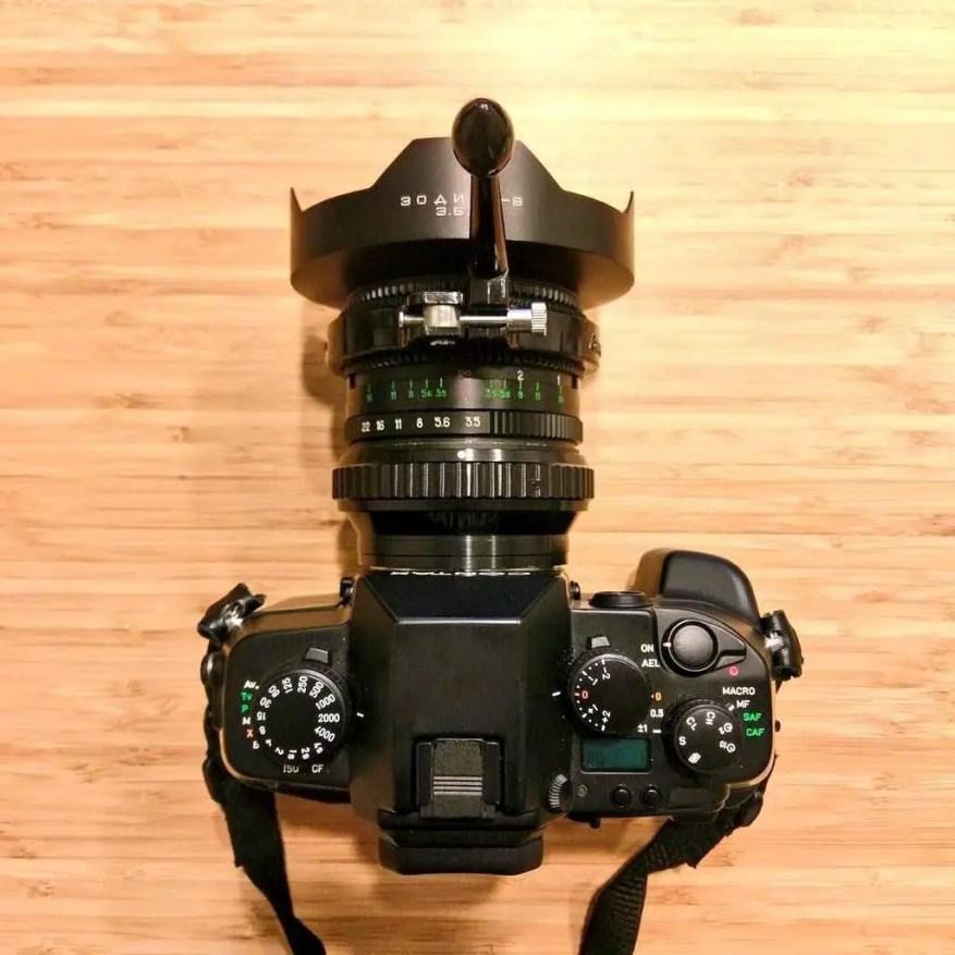 CONTAX AX with KMZ Zodiak 30mm f/3.5