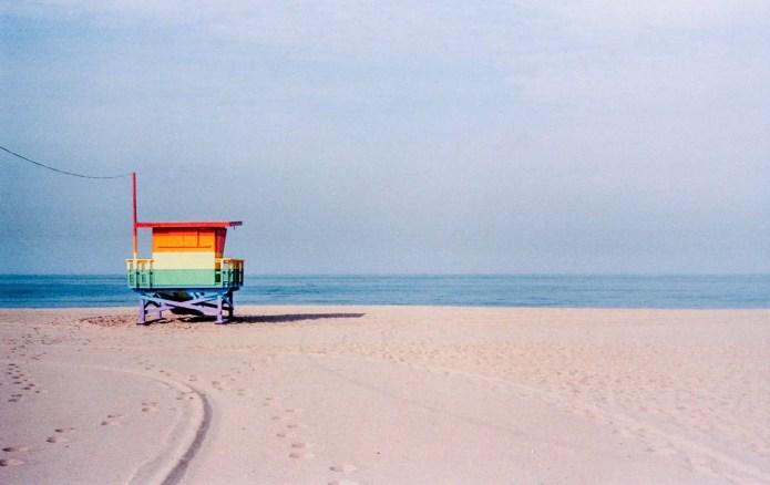 Rainbow Lifeguard Tower, Venice, California. Leica M3, Kodak Portra 160
