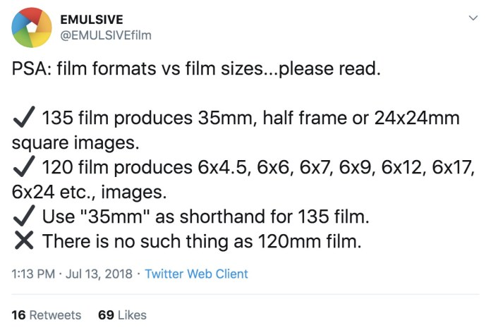 RANTS: There's no such thing as 120mm film…