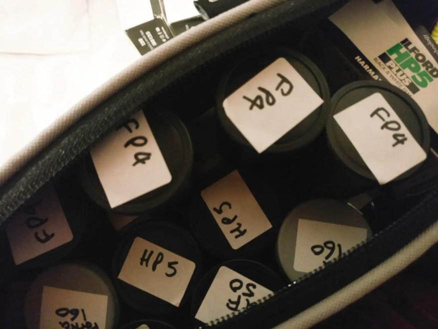 Tripod bag used for film storage
