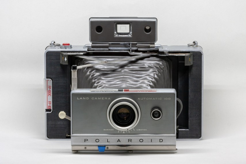 Front View of Polaroid Automatic 100 Land Camera