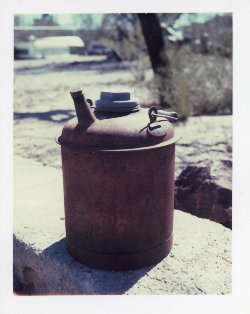 Rusted Oil Can, Polaroid Type 690