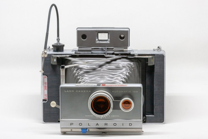Automatic 100 with cable release and Polaroid #516 Cloud Filter