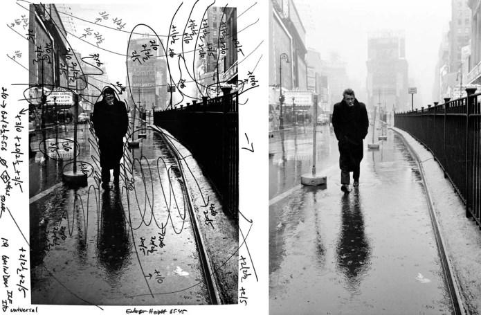 James Dean 1955, by Pablo Inirio (darkroom mark-up)