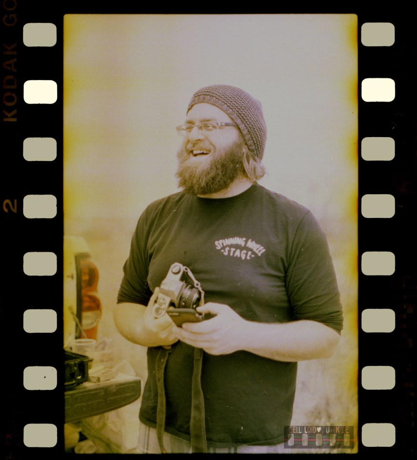 Me Laughing from the first roll I ever developed back in 2018
