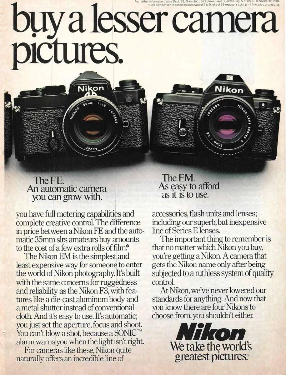 Nikon FE + FM