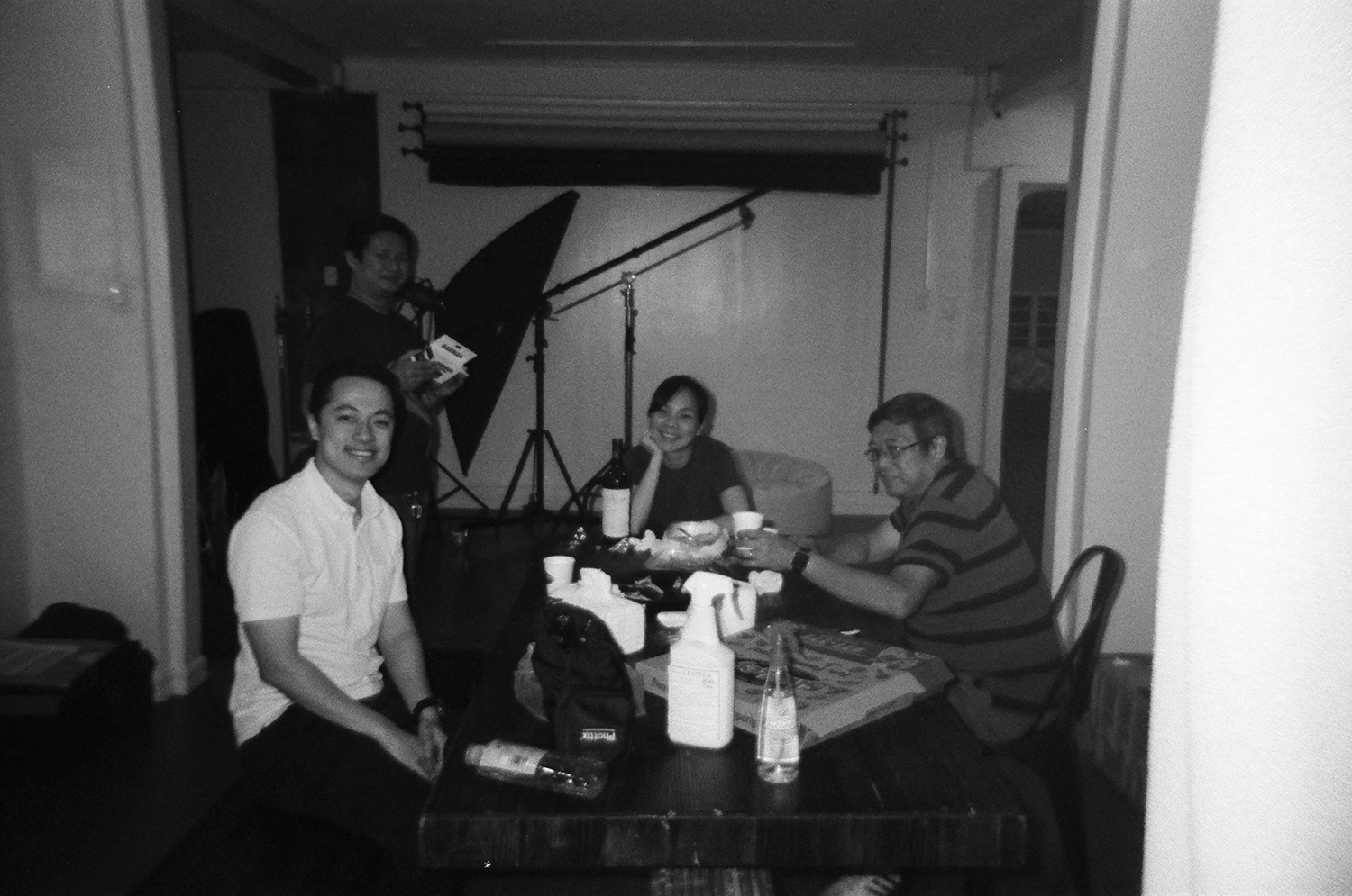 Ronald Sy, Noel Capule, me, and Jojo Colina - Kentmere 400 + HARMAN REUSABLE CAMERA