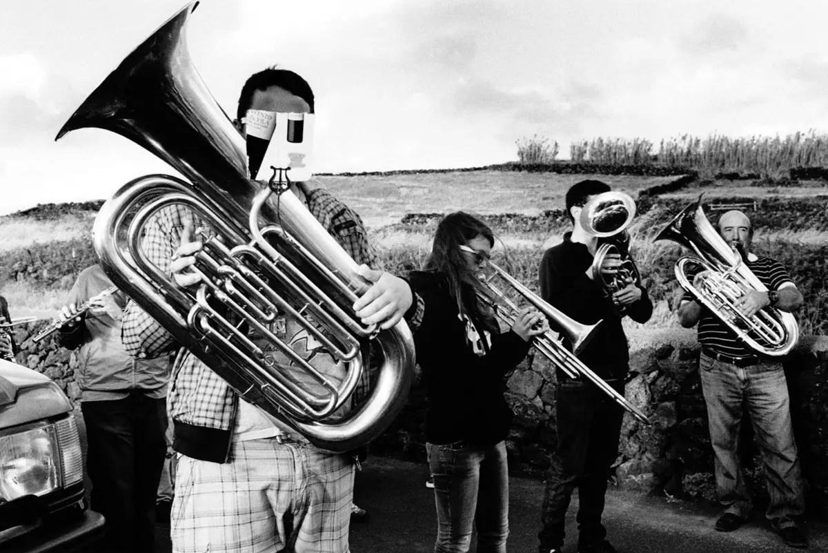 Musicians - Kodak Tri-X 400, Leica R6, Terceira Island, Azores, 2014