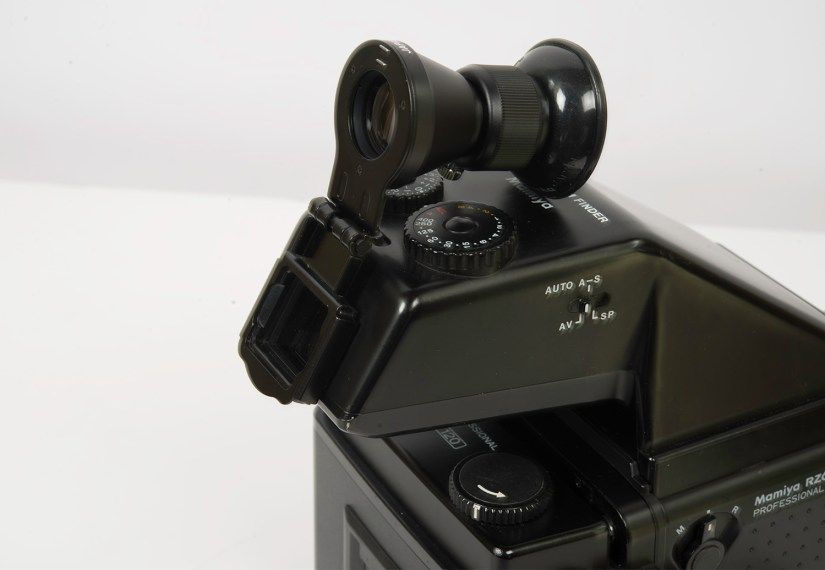 """Mamiya RZ67 - magnifier FD701 for FE 701 and """"Model 2"""" prisms (flipped up)"""