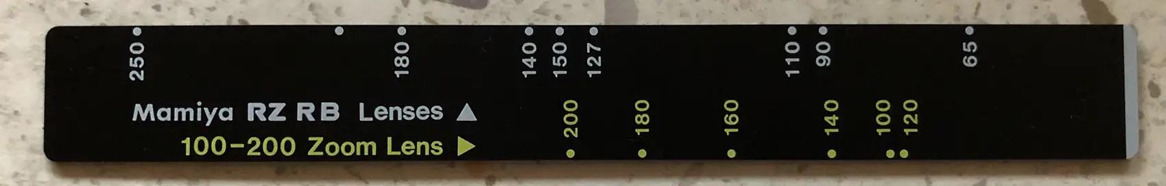 Compendium shade ruler